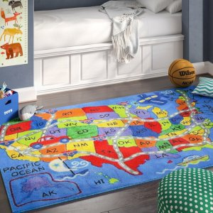 Up to 56% OffCorina Travel Map Area Rug by Zoomie Kids @ WayFair