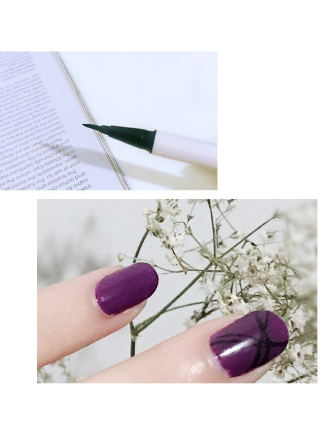 废物利用❣️眼线液画指甲
