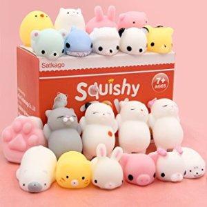 $9 Satkago Mochi Squishy Animals Stress Toys 20 Pcs @ Amazon