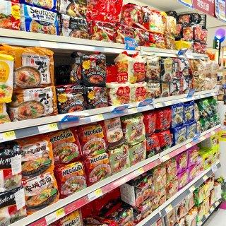 隐藏在韩国超市里的美食街❤️...