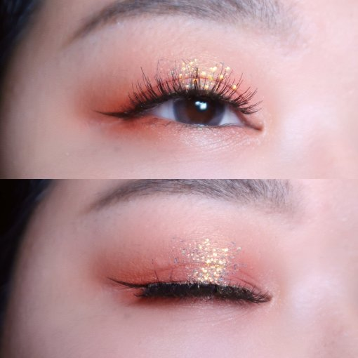 这才是元气少女最爱的蜜桃色眼影盘🍑