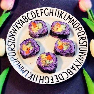 紫薯蔬菜寿司卷...