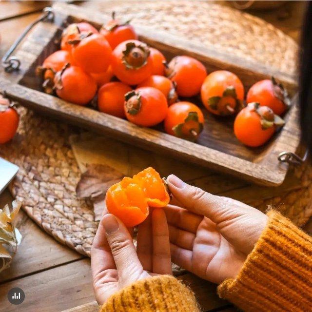 秋季甜品 柿子沙冰