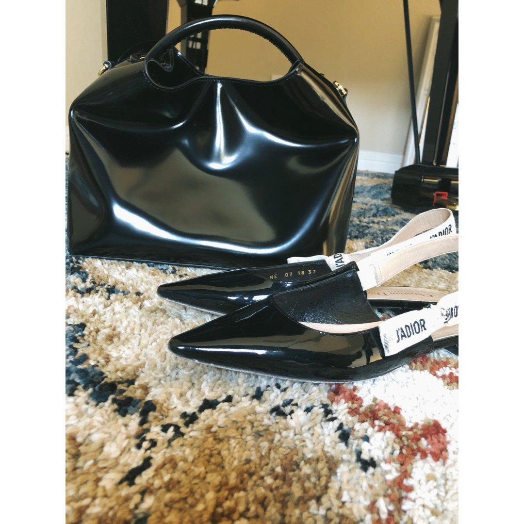 黑漆皮鞋➕包