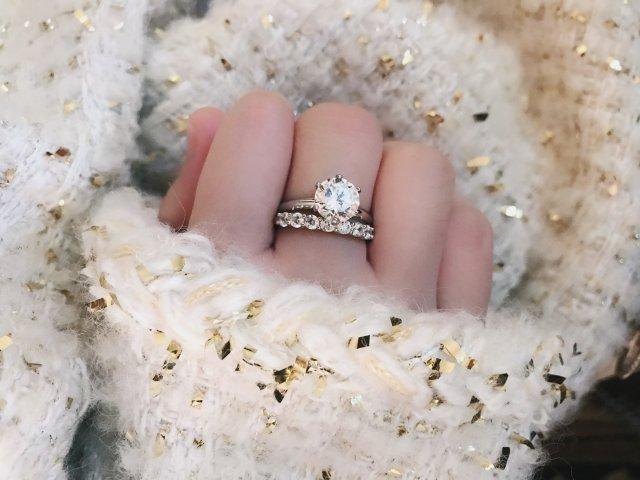 Tiffany经典6爪钻戒get✅