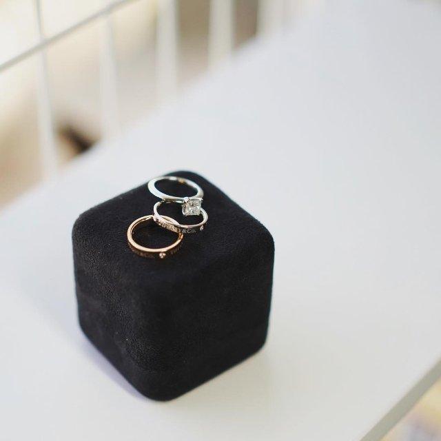 超好看的Tiffany对戒+钻戒💍...