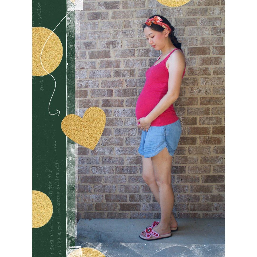 孕妇穿搭挑战1⃣️