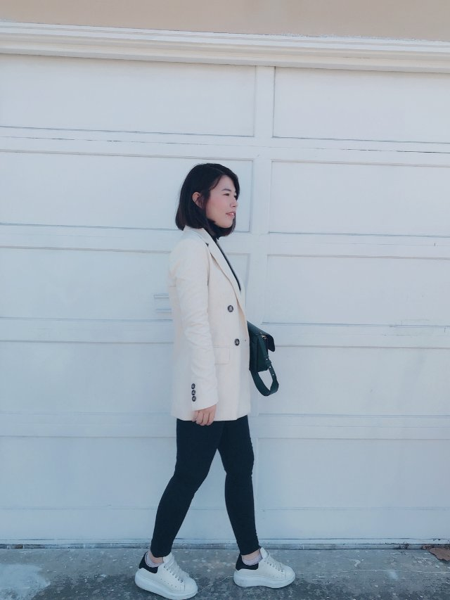 穿搭|📷成熟斯文的白色西装外套🧥