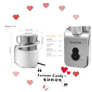 Fortune Candy,Amazon 亚马逊,Fortune Candy 电动冷热奶泡机 300ml可拆卸杯体