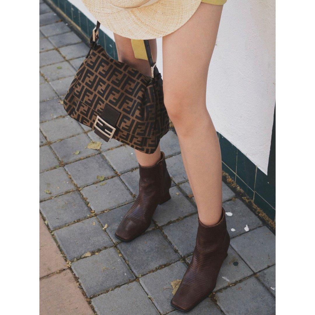 棕色系鞋➕包