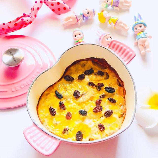 🌟香蕉蛋奶烤燕麦🌟(健康低卡早餐)...