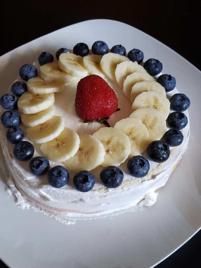 一日三餐吃什么之---杂果蛋糕