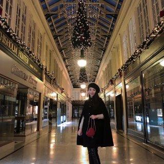 格拉斯哥市中心的圣诞节氛围...