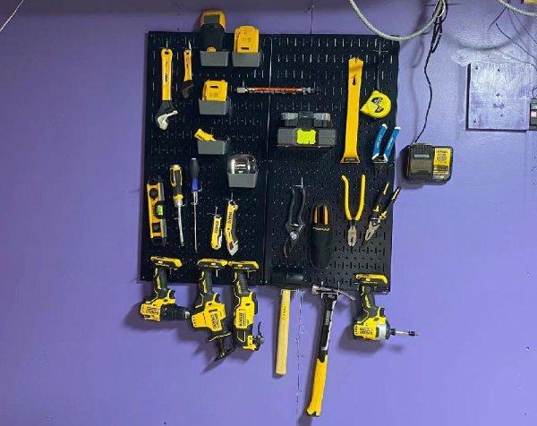 多功能洞洞板工具壁挂架