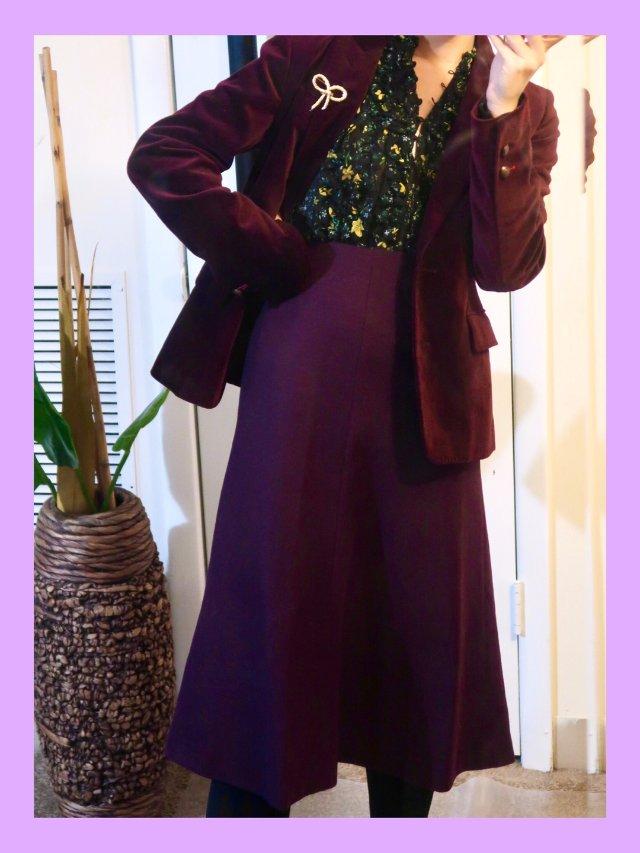优衣库好物|羊毛🦙混纺防静电喇叭裙