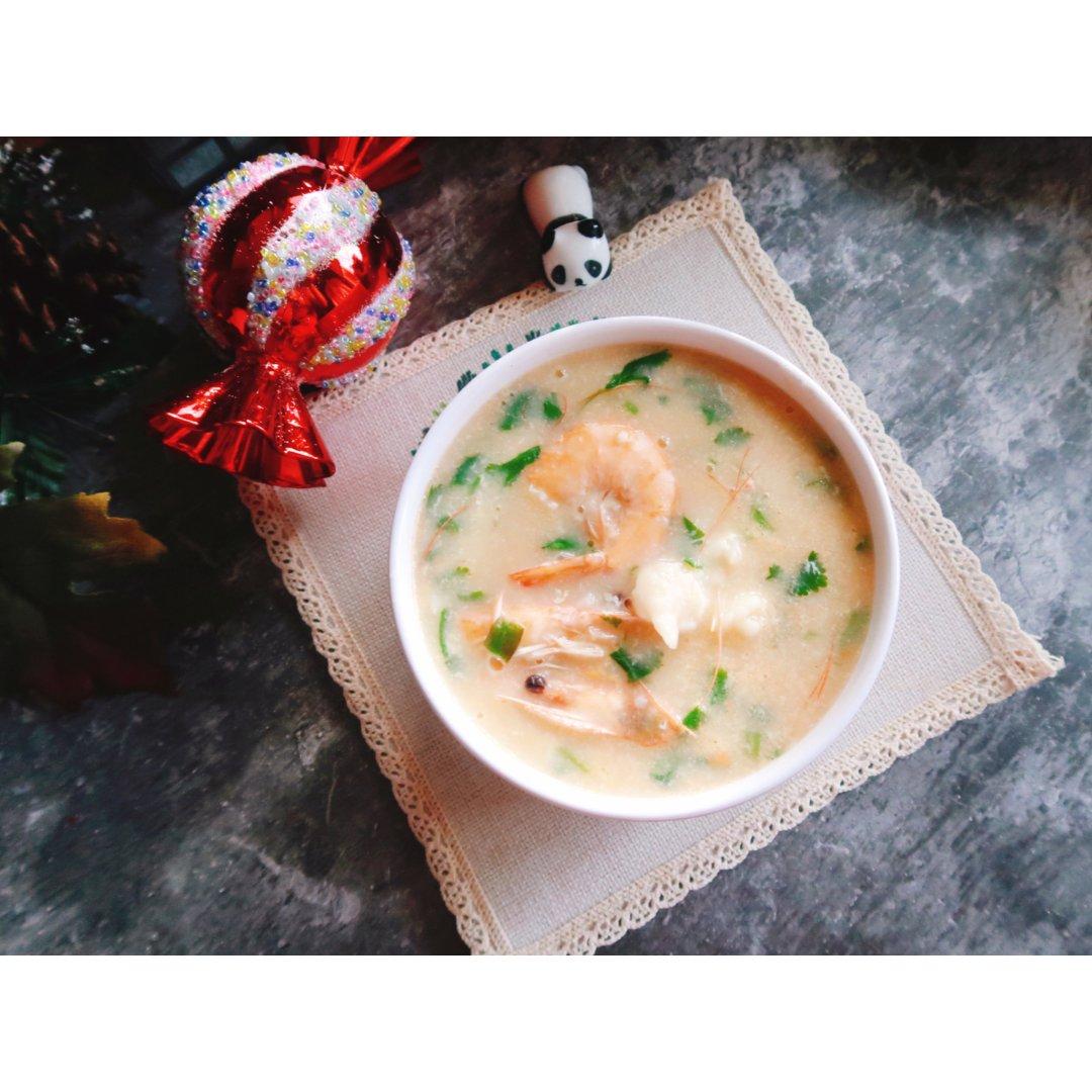 快手菜-海鲜疙瘩汤...