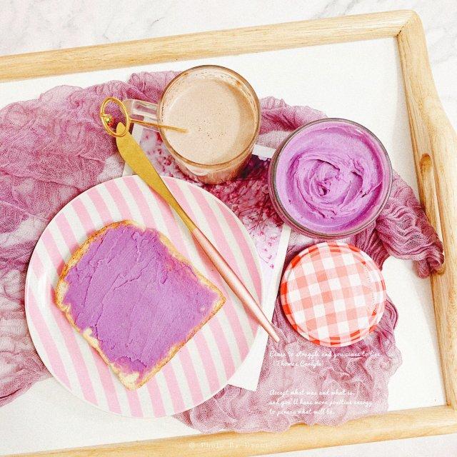 颜值和味道并存的香芋紫薯抹酱💜
