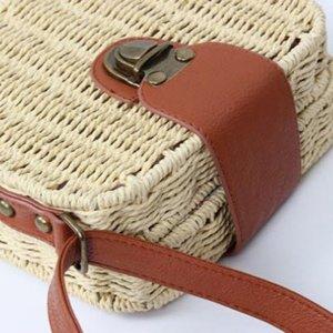 Candy Color Square Straw Bag Small Single-shoulder Bag Crossbody Bag Women Beach Bag - Beige - Walmart.com