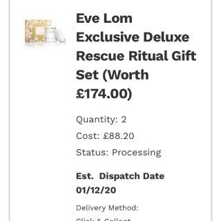 感觉见证了Eve lom这个圣诞套装的折...