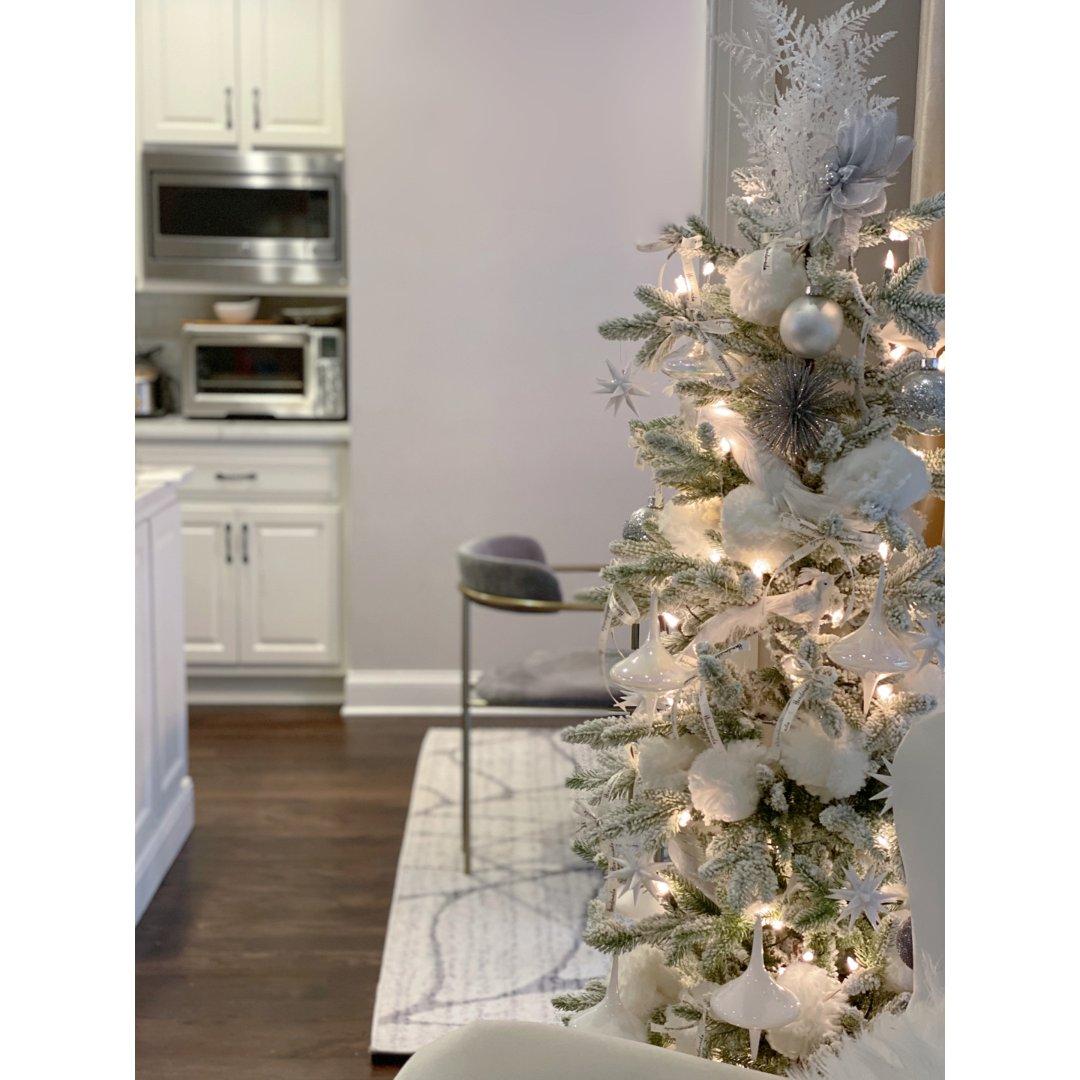 家居一角|营造白色圣诞气氛❄️