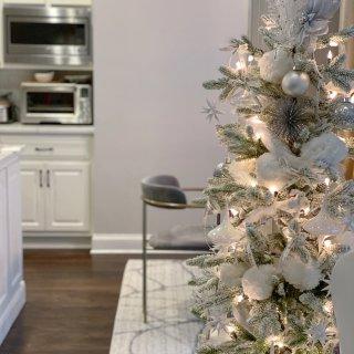 家居一角|营造白色圣诞气氛❄️...