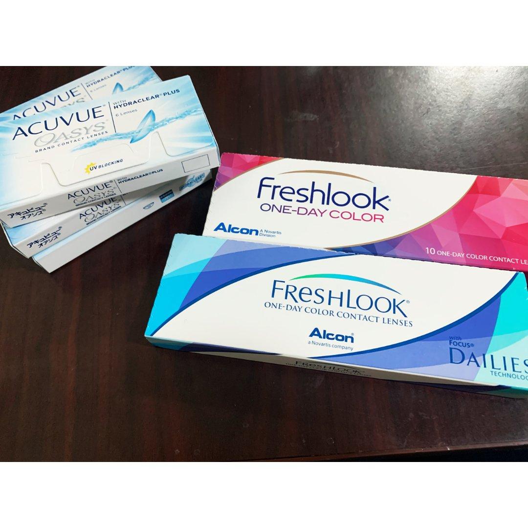 Acuvue 强生安视优,Freshlook,15.75美元,24.2美元