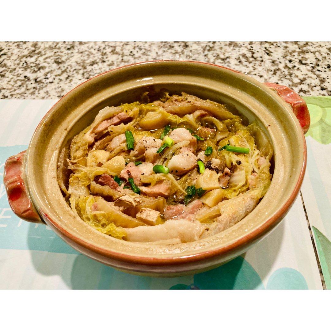 五花肉白菜锅:清甜真是种美好的滋味!😋