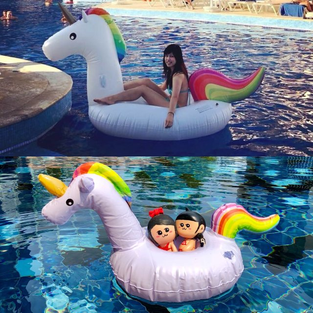 很多網美去海島度假一定會攜帶獨角獸...