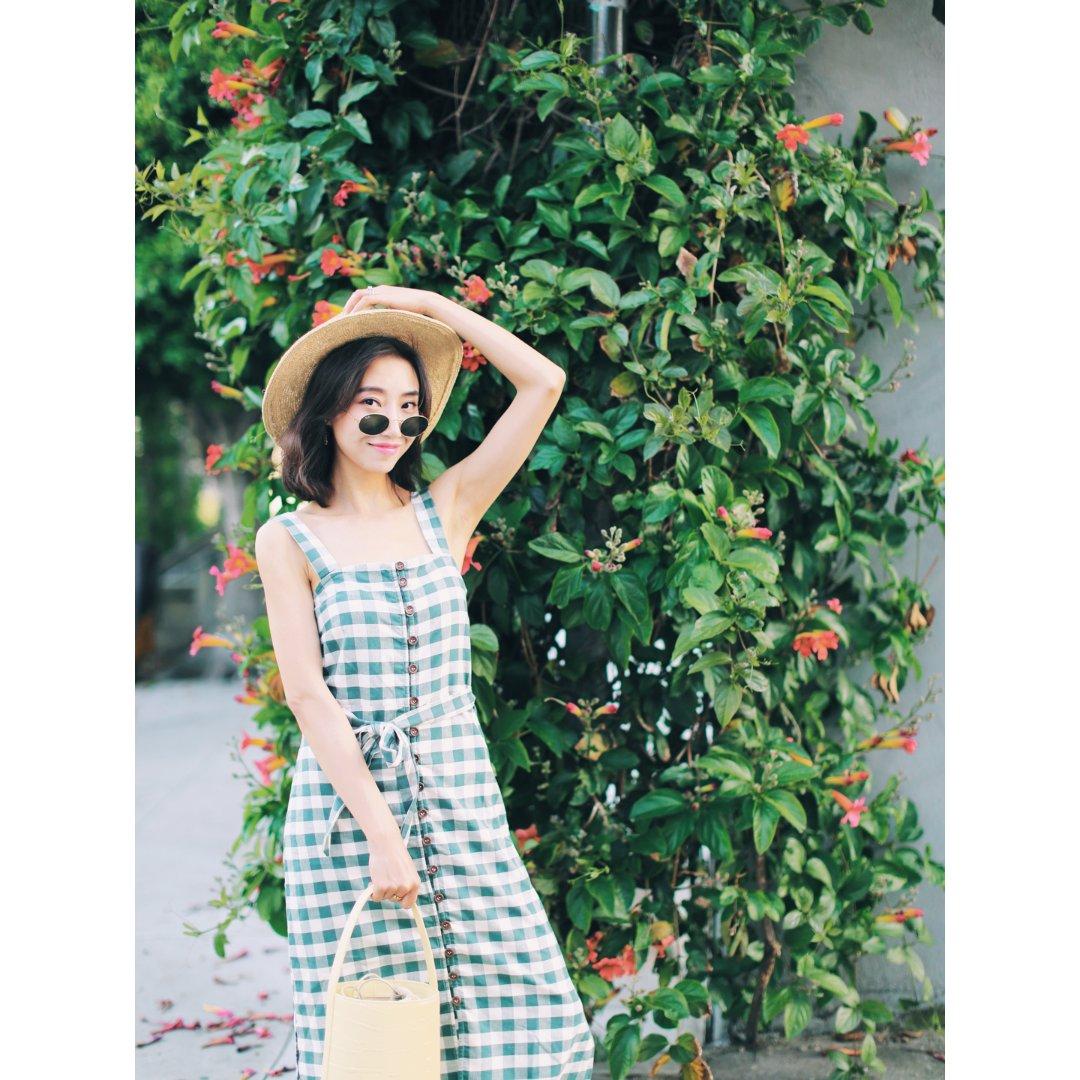 【夏日清凉必备的格子裙】