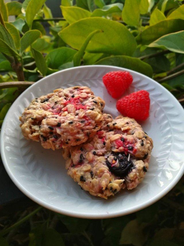 加了莓果的燕麦曲奇饼干