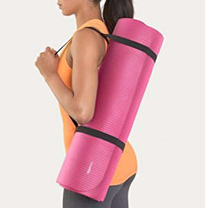 Amazon.com : AmazonBasics 1/2-Inch Extra Thick Exercise Mat with Carrying Strap, Pink : Sports & Outdoors
