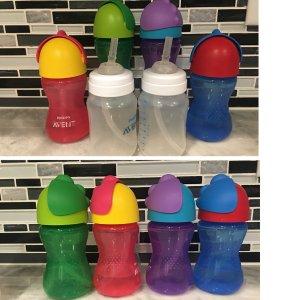 防胀气婴幼儿奶瓶套装 粉色