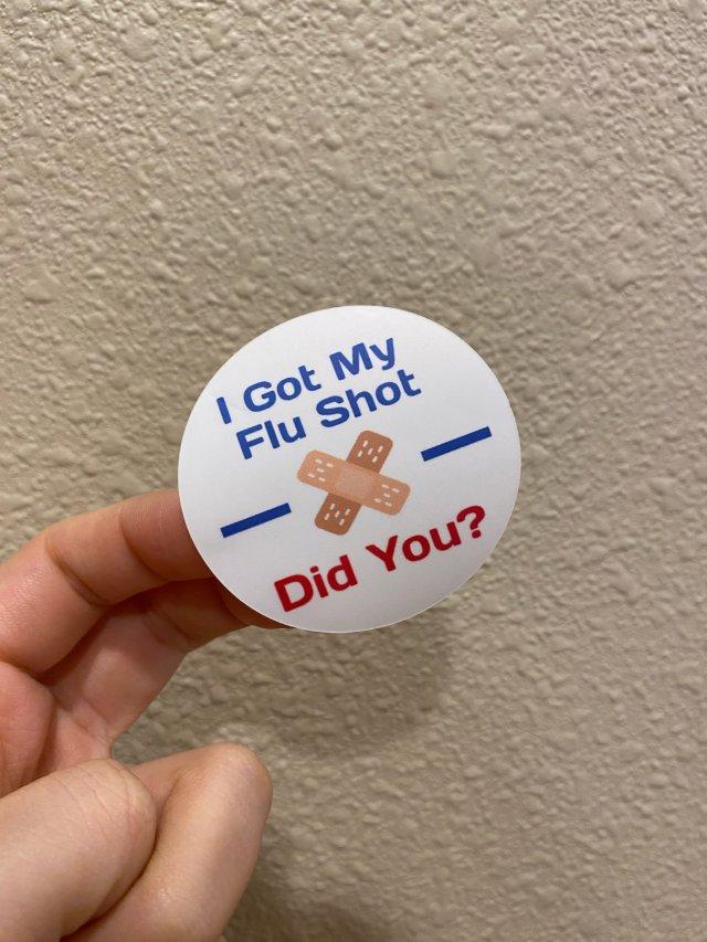 我打了Flu Shot!你打了嘛?