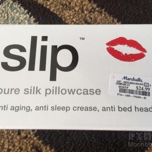 贴错标的slip枕套