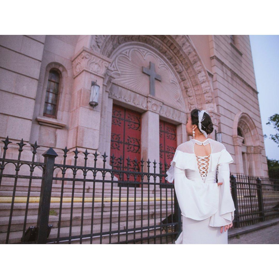 我的婚纱照 | 教堂+复古 大胆挑...