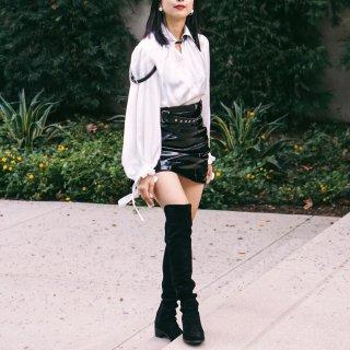 #昆娜穿搭#我来秀一下新的SW长靴吧!...