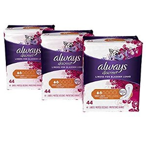 $12.81Always Discreet, Incontinence Liners, Very Light, Long Length, 132 Count