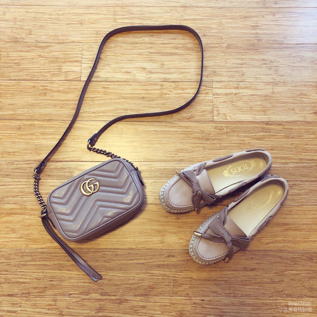 包包鞋子同色之温柔粉~