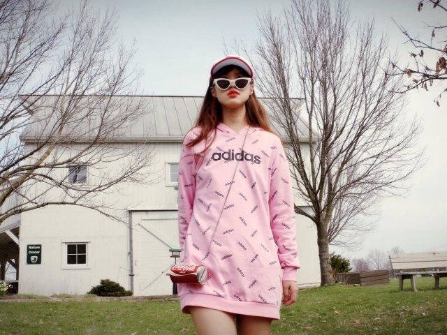 粉粉嫩春季穿搭———Adidas三...