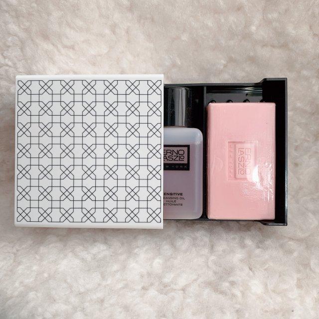 💓奥伦纳素粉色敏感肌卸妆油+洁面皂套装~
