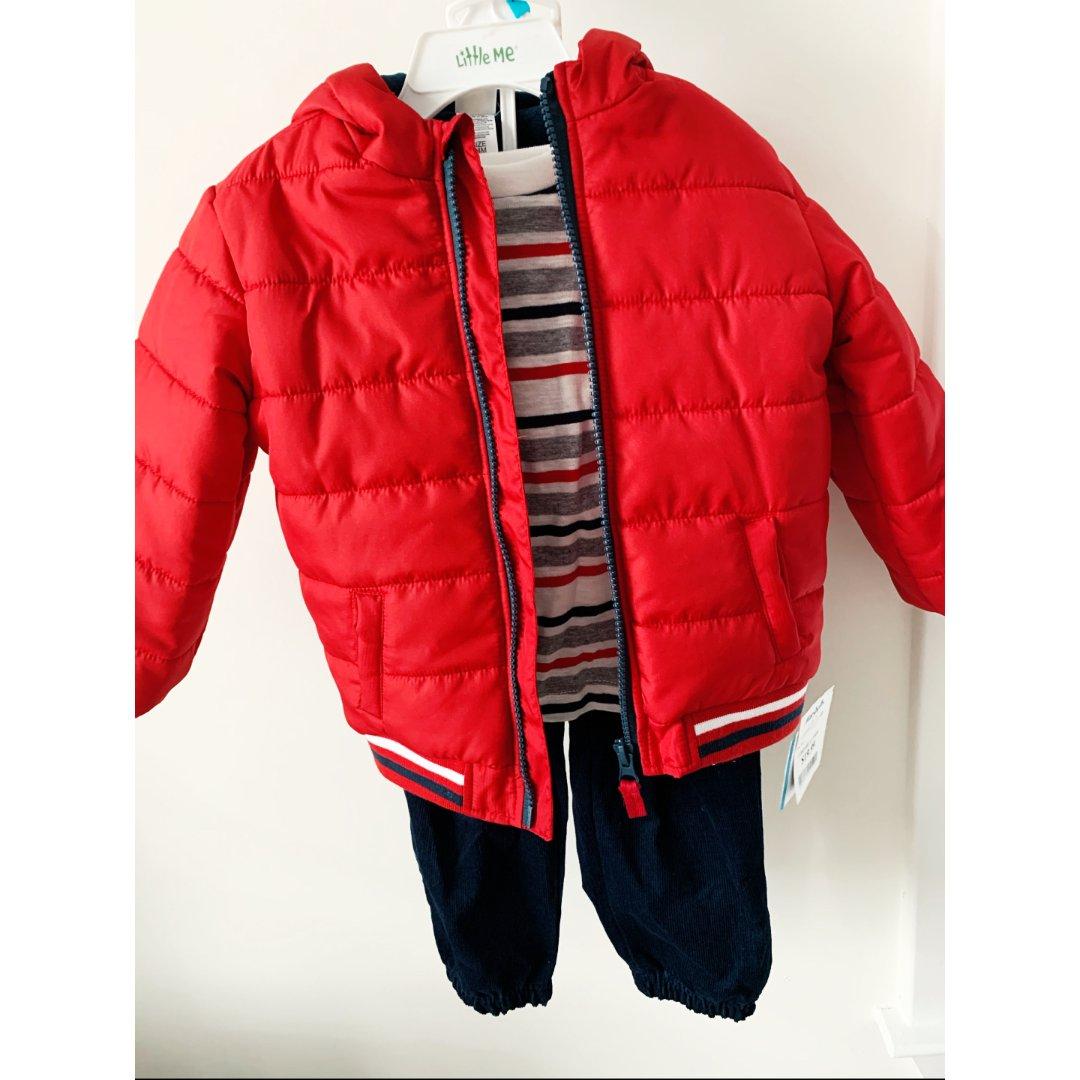 天冷了要保暖,男娃冬衣也可以简单大方