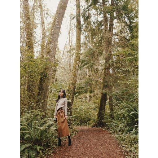 Ootd▪️秋日驼色系🍂今年一定要有一条皮裙😉