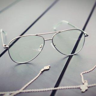 Quay|时尚精最爱的透明金框防晒镜