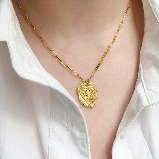 入新| 巴洛克珍珠项圈+不规则爱心硬币项...