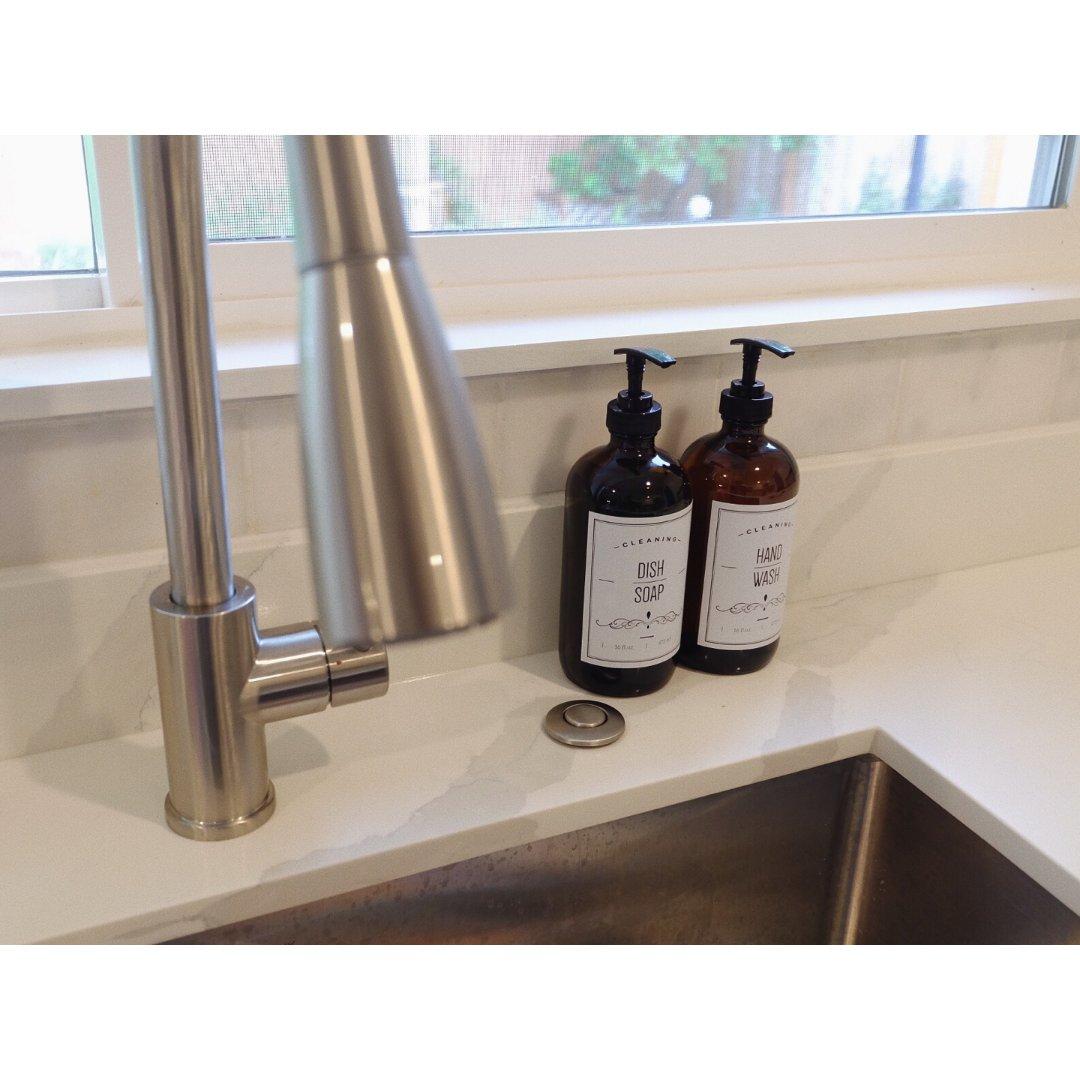 终于找到了喜欢的洗洁精和洗手液收纳瓶!!