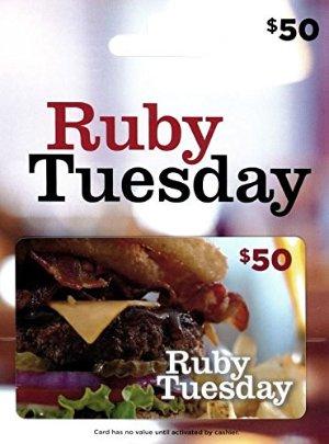 $40.00闪购:Ruby Tuesday 餐馆$50礼卡