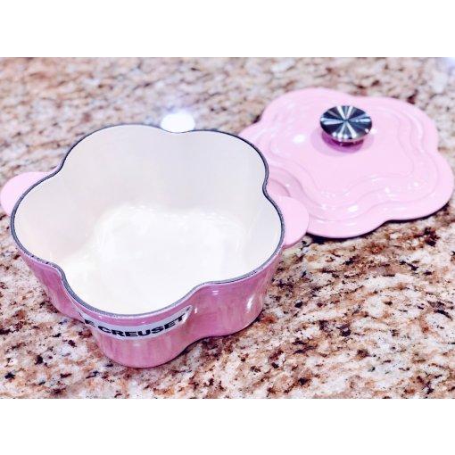 终于买了Le creuset的粉色花花锅