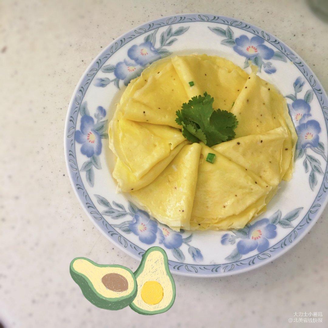 早餐摊- 鸡蛋薄饼