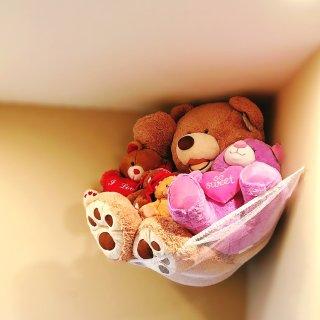 【毛绒玩具收纳】它们需要一个吊床😄😄...