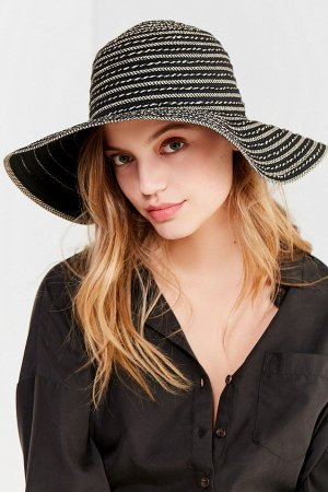 Ribbon Spiraled Wide-Brim Hat | Urban Outfitters